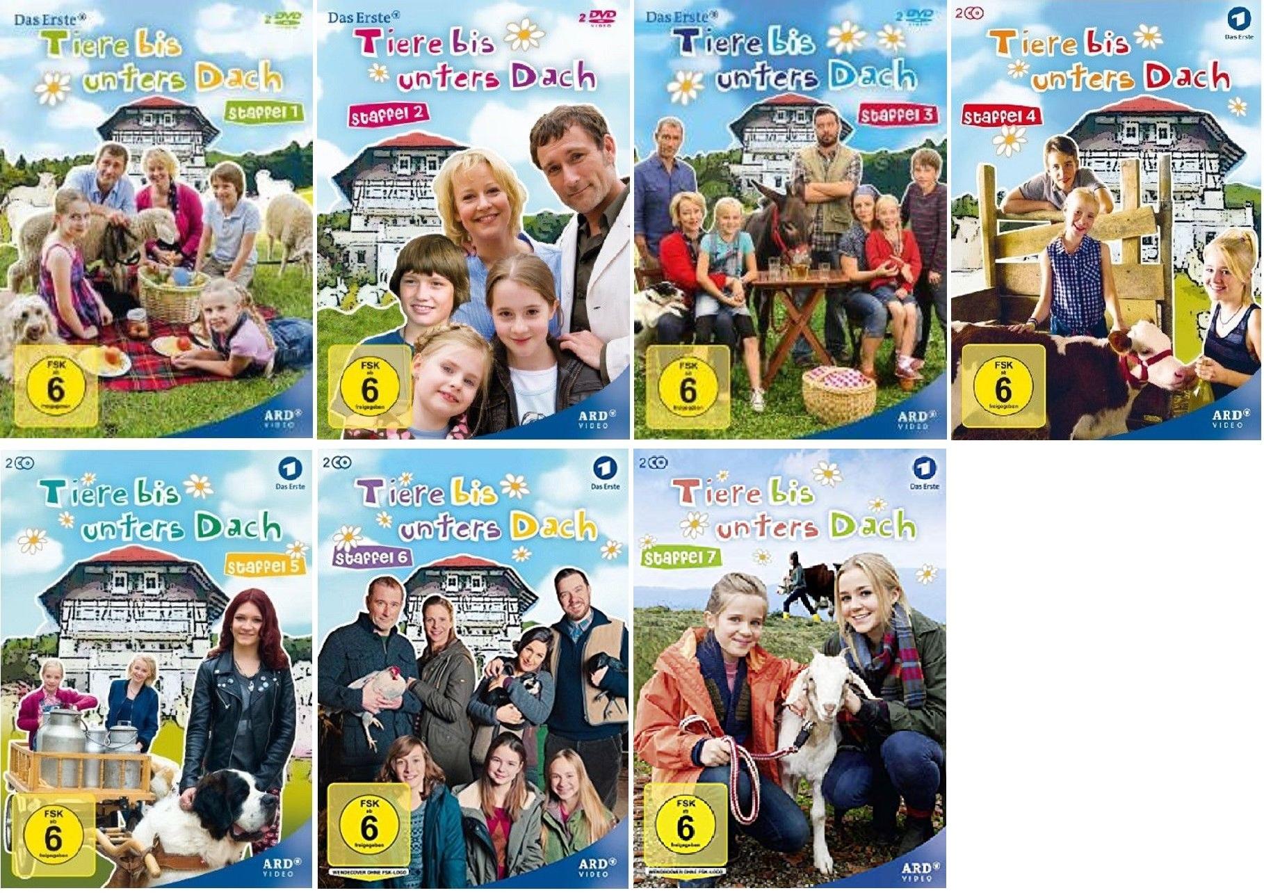 Tiere Bis Unters Dach Staffel 1 7 1 2 3 4 5 6 7 1 Bis 7 Dvd Set Folge 1 91 Neu Ebay