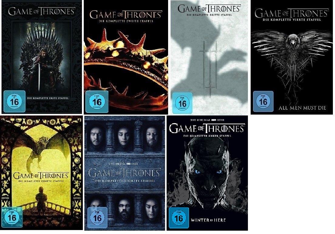 game of thrones staffel 1 7 1 2 3 4 5 6 7 dvd set neu. Black Bedroom Furniture Sets. Home Design Ideas